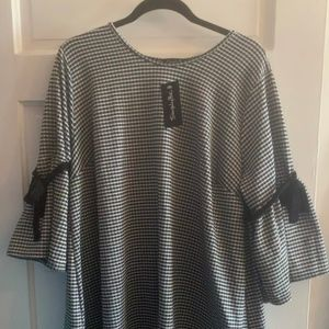 NWT Simply Be Black and White Checked Mini Dress